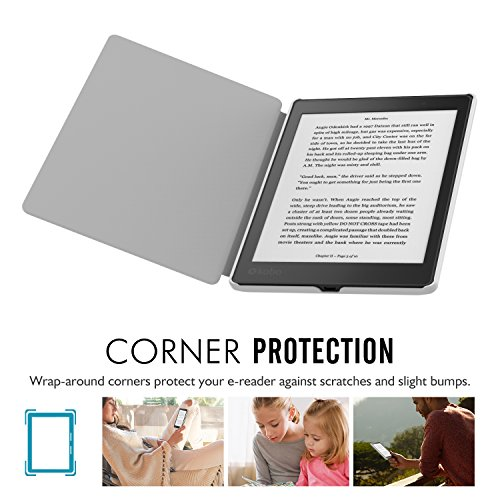 """MoKo Kobo Aura One Case, Premium Ultra Compact Protective Slim Lightweight Cover Case for Kobo Aura One 7.8"""" Tablet / e-Reader 2016 Release, City Night View"""