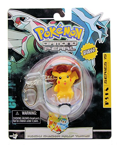 Pokemon Diamond and Pearl Poke Ball Keychain Series 15 - Pikachu