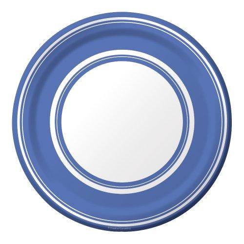 True Blue Plastic Plates - 3