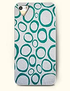 Phone Case For iPhone 5 5S Teal Circles - Hard Back Plastic Case / Geometric Pattern / OOFIT Authentic