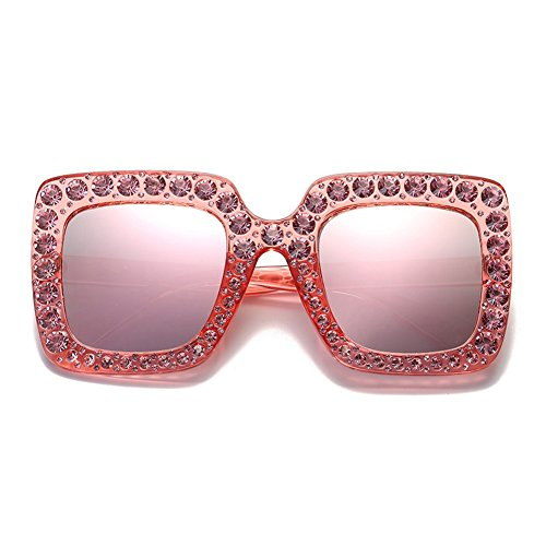Ornamento 2018 Zantec sol de Eyewear de 1 de regalo Party cumpleaños Street grande de moda marco de Rhinestone Snap Gafas 1r6wd0q6g