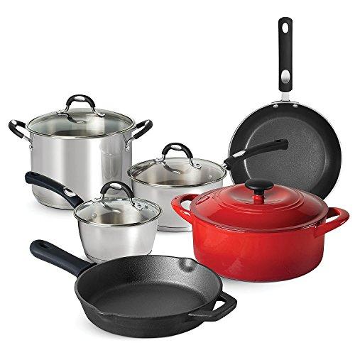 Tramontina 10-Piece Kitchen Essentials Multi-Material Cookwa