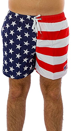 6424a0be0b Exist American Quick Shorts Trunks. Review - Exist Men's Patriotic USA  American Flag Stripes And Stars Quick Dry Beach Board Shorts Swim Trunks