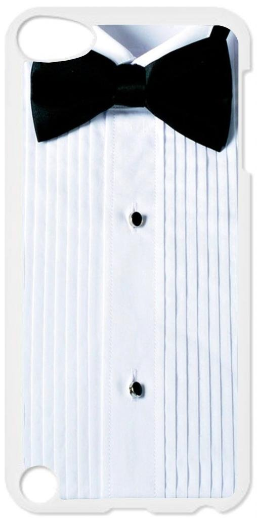 Tuxedo Shirt with a Bow Tie - Case for the Apple Ipod 5th Generation-Hard White Plastic