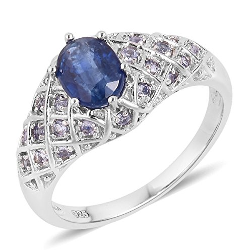 925 Sterling Silver 1.6 cttw Oval Kyanite, Tanzanite Ring Size 7