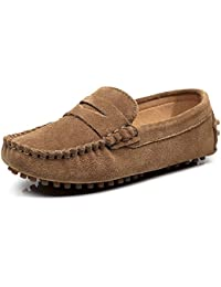 Boys Cute Slip-On Suede Leather Loafers Shoes S8884
