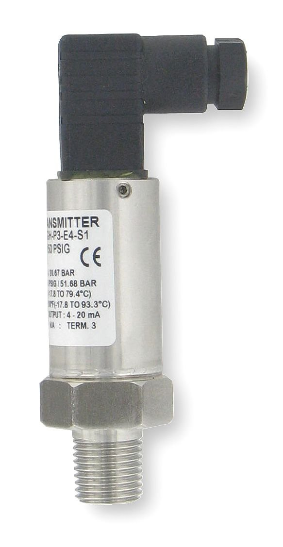 4 to 20mA DC Output 1//8 MNPT Pressure Transmitter 0 to 3000 psi