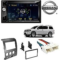 "Jensen 6.2"" High Resolution TouchScreen w/ DVD player & Bluetooth Control CAR STEREO DASH MOUNTING KIT WIRE HARNESS NISSAN TITAN ARMADA 2004 - 2007"