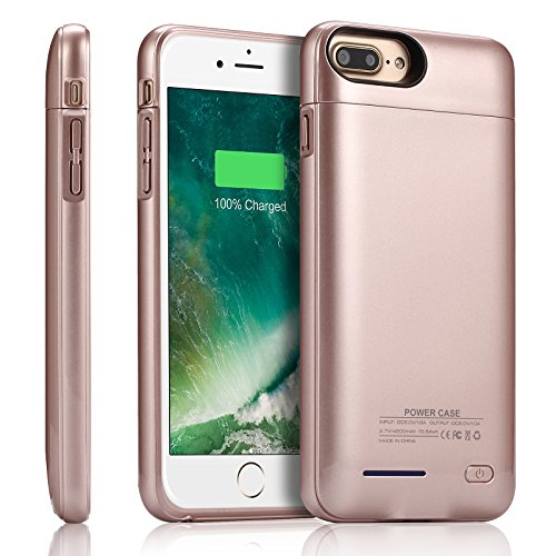 iPhone 7 Plus / 8 Plus Battery Charger Case,YISHDA Slim 5.5-Inch iPhone 7 Plus / 8 Plus Portable Charging Case 4200mAh with Magnetic Kickstand External Battery Backup Juice Pack for iPhone 8 Plus 7 Plus/6S Plus/6 Plus