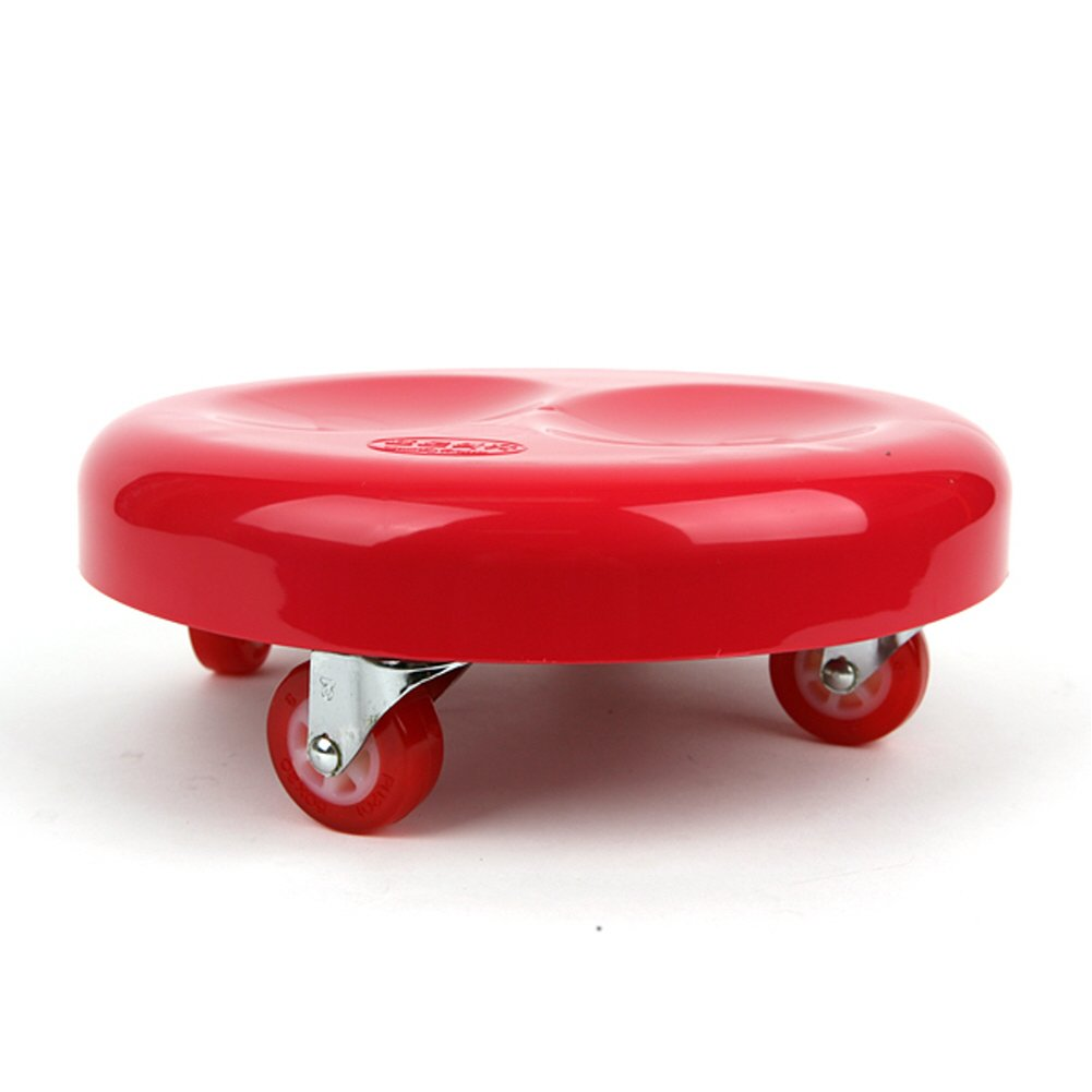 Working on The Ground Hwashin Carrying Luggage No Brake Whany Multipurpose Low Rolling Stool with Urethane Wheels for Seating