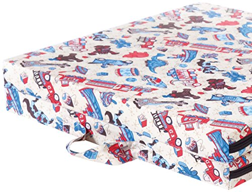 Pile of Pillows Trains and Trucks Fold-a-Bed, 1-Pack