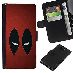 YiPhone /// Tirón de la caja Cartera de cuero con ranuras para tarjetas - Resumen de araña Superhéroe - Samsung ALPHA G850