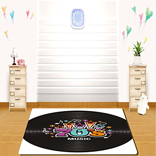 HAIXIA rugs 70s Party Decorations Music Theme Colorful Stars
