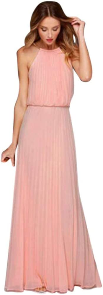 Vestidos de Fiesta Mujer, SUNNSEAN Vestido Largo sin Mangas de ...