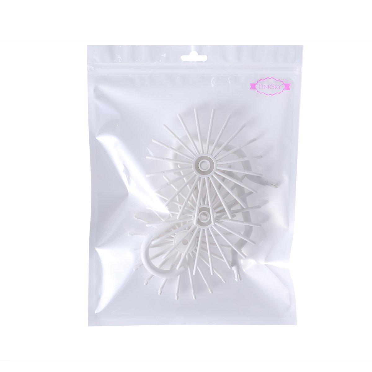 c92c0ef48b71 ... Tinksky Tie Rack Belt Hanger Scarf Holder Hook for Closet Organizers,  360 Degree Rotating 20 ...