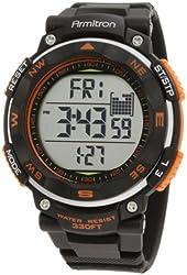 Armitron Sport Men's 40/8254ORG Black Strap Orange Accented Digital Chronograph Watch