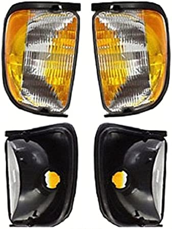 Discount Starter and Alternator CH2551120 CH2550120 Replacement Side Marker Pair Fits Jeep Wrangler Plastic Lens Without Bulbs