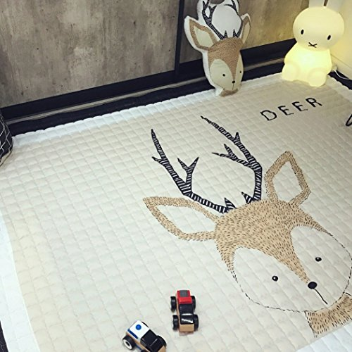 IHEARTYOU Baby Crawling Mat Cute Deer Play Carpet Children Bedroom Decor Living Room Rugs by IHEARTYOU (Image #4)