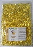 Club Vits Oméga-3 huile de poisson concentré 1000mg - 365 Capsules - sac scellé