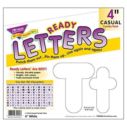 Trend Enterprises White 4-Inch Casual Uppercase/Lowercase Combo Pack Ready Letters (T-79905) Photo #2