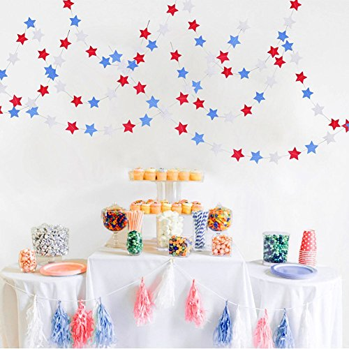 (Fourth of July Decorations Star Banners - 4th of July/Red White Blue Party Supplies Streamers Patriotic)