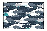 perfect minimalist patio design Perfect Kitchen Area Rug Funky Minimalist Overlap Plume Fluffy Storm Monsoon Cloud Weather Design Grey White for Home and Office 6'x7'