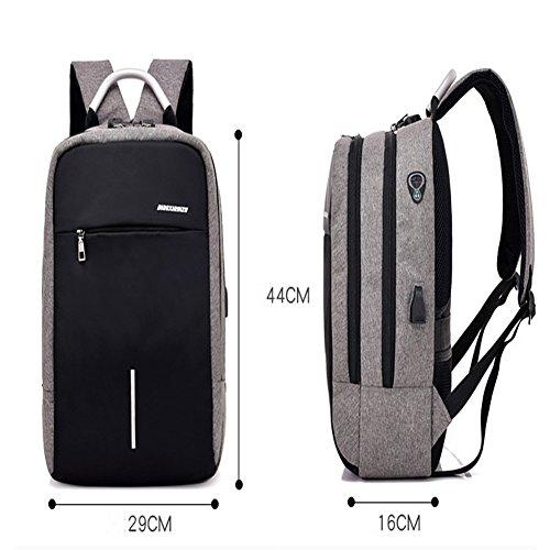 Business-Rucksack Für Herren Laptop Rucksack Diebstahlsicherer Rucksack,Black White