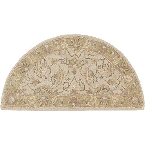 Surya Caesar CAE-1114 Hand Tufted Wool Hearth Classic Accent Rug, 2-Feet by 4-Feet (Oriental Wool Hearth Rug)