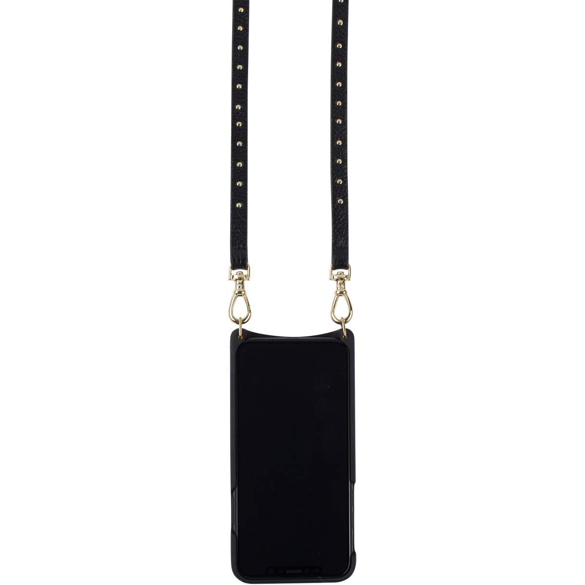 Bandolier [Nicole] Crossbody Phone Case and Wallet - Compatible with iPhone 8/7 / 6 - Black Leather with Gold Accent by Bandolier (Image #3)
