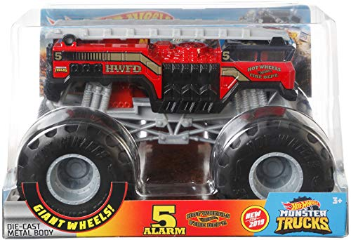 Hot Wheels 5 Alarm #2 Monster Truck, 1:24 Scale (Wheels Five Hot Pack)