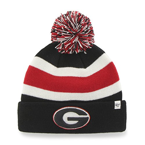 NCAA Georgia Bulldogs '47 Breakaway Cuff Knit Hat, One Size Fits Most, Black (Georgia Bulldog Hats Fitted Men compare prices)