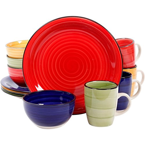 Gibson Home Color Vibes 12 pc Dinnerware Set,