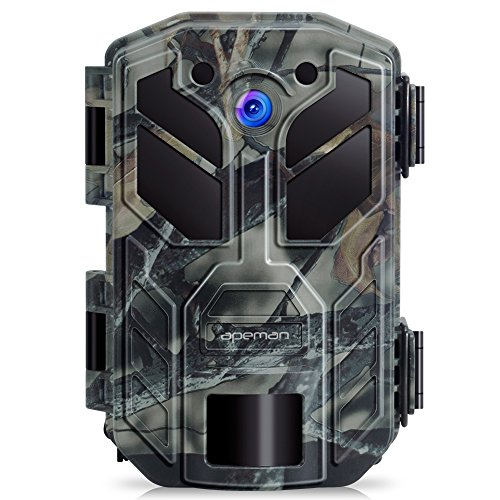 APEMAN Trail Camera 20MP 1080P Hunting Camera 40PCs IR LEDs Game Camera for Crisp Night Shot & Vision up to 65ft IP66 Waterproof Design Wildlife Camera for Wildlife Hunting and Home Security