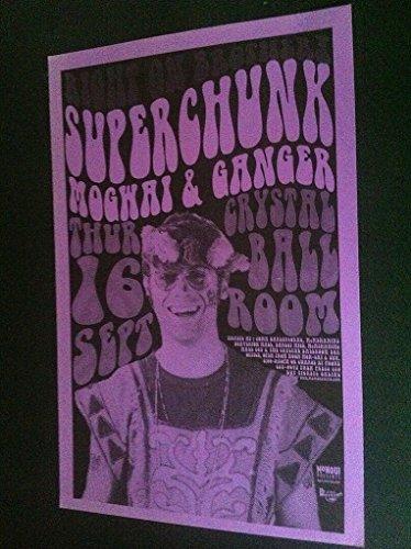 Superchunk Mogwai Rare Original 1999 Crystal Ballroom Concert Tour Gig Poster