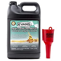 Evans Cooling Systems EC53001 High Performance Waterless Engine Coolant With Funnel, 128 fl. oz.