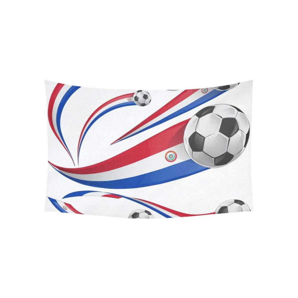 LMFshop Tapiz Bandera de Paraguay Balón de fútbol Aislado en ...