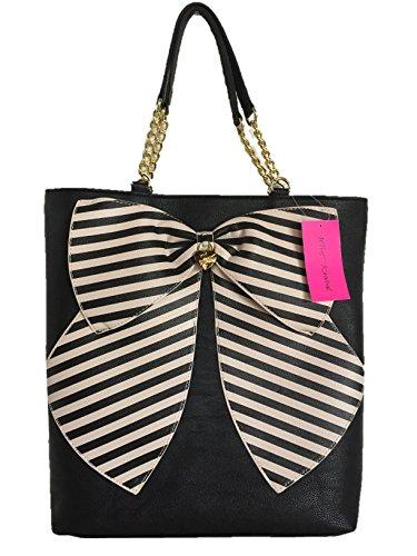 Betsey Johnson Bow-tastic Tote Large Shopper Bag Pink Bow (Betsey Johnson Bag Pink Bow)