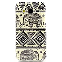 Galaxy G360 Case, Style Hybrid Fancy Colorful Pattern Hard Soft Silicone Back Case Cover Fit for Samsung Galaxy Core Prime G360 (Elephan)