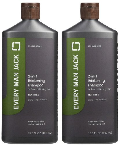 Every Man Jack 2-in-1 Thickening Shampoo Plus Conditioner - Tea Tree - 13.5 oz - 2 Pack