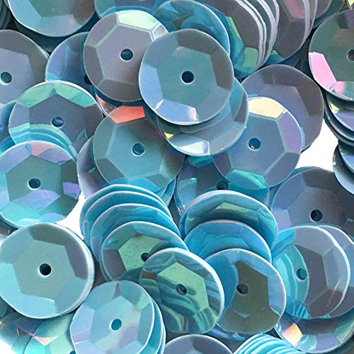 Sequins 8mm 800/Pkg Light/Baby Blue Iridescent ()