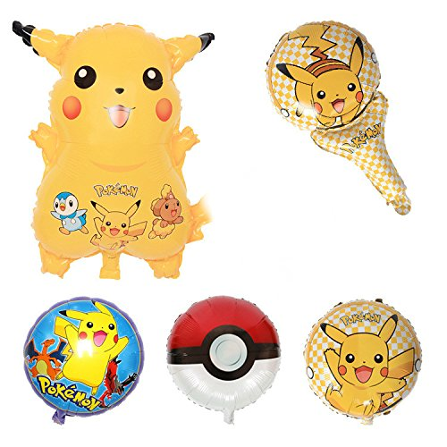 Pokemon Party Balloons Prime 5 In Each Pack bouquet Multiple Different Kind Of - Adelaide For Shop Sale