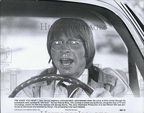 1978 Press Photo Oh, God! Film Actor John Denver In Automobile