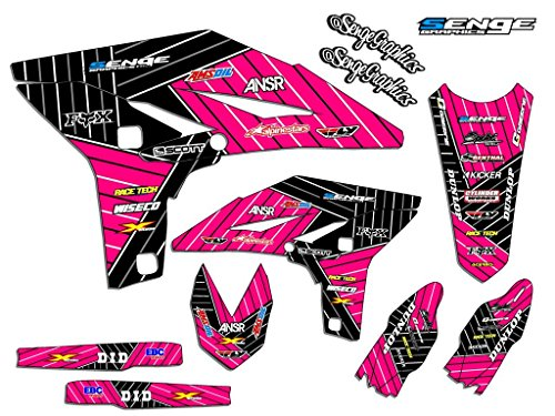 - Compatible with Yamaha 2005-2019 TTR 230, Race Series Pink Graphics Kit