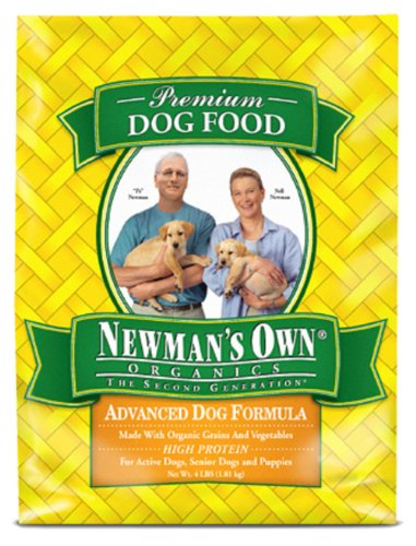 Newman's Own Organics Advanced Dog Formula for Active or Senior Dogs, 4-Pound Bags (Pack of 3), My Pet Supplies