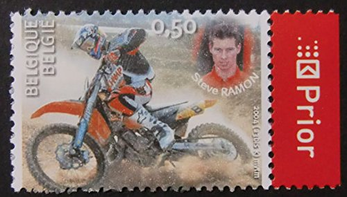 Motorbike Framed (Steve Ramon -Belgium -Motorcycles & Motorbike -Framed Postage Stamp Art)