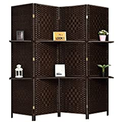 Keep your home on trend and in style with this ornate and magnificent room divider. With panels and an intricate woven pattern, this divider acts as a full-length piece of art. Use this folding wall to separate sections of different rooms or ...