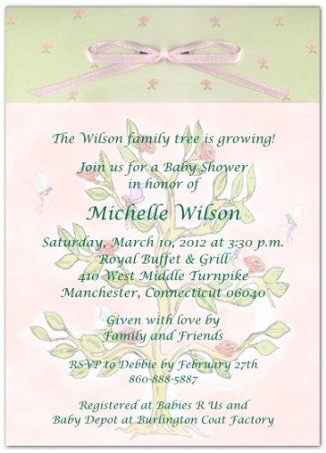 Amazoncom Fairy Tree Baby Shower Invitations Set of 20 Baby