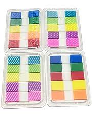 Yowanted 4 juegos coloridos marcapáginas de colores con pestañas de índice emergente etiquetas adhesivas notas para marcadores de páginas 400 piezas