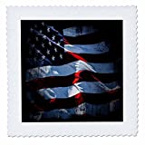 3dRose Flags Of States Unique - Image of Flag Of North America In Grunge Style - 18x18 inch quilt square (qs_262520_7)