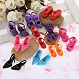 10 Pairs Of Mixed Fashion Shoes High Heels Sandals For Barbie Sindy Doll Outfit Dress Toy
